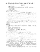 Bộ đề thi ôn thi vào vào 10 môn ngữ văn (đầy đủ)