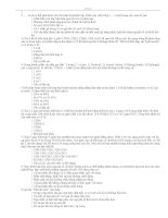 300 Câu hỏi trắc nghiệm môn Hoá học ôn thi ĐH Có đáp án