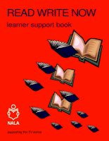 Read Write Now Learner Support Book