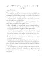 HƯỚNG DẪN ÔN TẬP VÀ LÀM BÀI THI TỐT NGHIỆP MÔN LỊCH SỬ