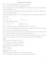 Bài tập bồi dưỡng học sinh giỏi lớp 2 môn toán