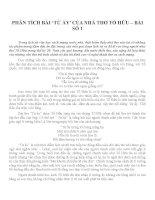 PHÂN TÍCH BÀI 'TỪ ẤY' CỦA NHÀ THƠ TỐ HỮU – BÀI SỐ 1