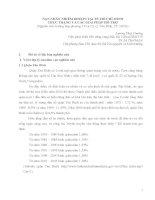 Báo cáo NẠN NHÂN NHIỄM DIOXIN TẠI TP. HỒ CHÍ MINH THỰC TRẠNG VÀ CÁC GIẢI PHÁP HỖ TRỢ (Nghiên cứu trường hợp phường 13 và 15, Q. Tân Bình, TP. HCM)