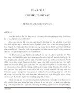 BÀI LÀM VĂN LỚP 5 CHỦ ĐỀ TẢ ĐỒ VẬT SỐ 2