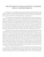 THUYẾT MINH VỀ DANH LAM THẮNG CẢNH BÌNH THUẬN – HẢI ĐĂNG KHE GÀ