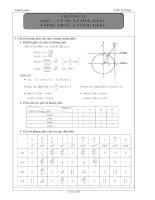 ôn tập lượng giác  toán 10