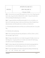 ĐỀ KIỂM TRA HỌC KÌ II MÔN HÓA  HỌC LỚP 10