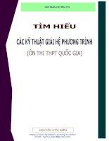 Tìm hiểu các kỹ thuật giải hệ phương trình  ôn thi THPT quốc gia môn Toán