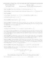 [FULL] ĐỀ THI VÀ ĐÁP ÁN KÌ THI THPT QUỐC GIA MÔN TOÁN 2015