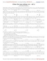 tổng ôn dao động cơ đề 2