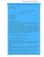 bài tiểu luận vi xử lý - đề tại chạy chữ trên màn hình LCD, ứng dụng IC 8051