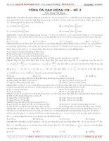 tổng ôn dao động cơ đề 3