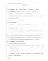 tuyển tập 60 đề toán ôn thi thpt quốc gia-CÓ ĐÁP ÁN