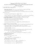 GIẢI BÀI TẬP LÝ 10 CHUYỂN ĐỘNG CỦA CHẤT ĐIỂM BẰNG PHƯƠNG PHÁP ĐỘNG LỰC HỌC