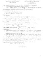Đề thi thử THPT quốc gia năm 2015 môn toán (đề số 1)