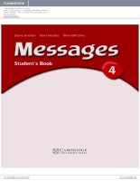 Messages 4 Student''s Book