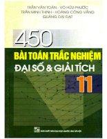 450 bài toán trắc nghiệm đại số và giải tích 11