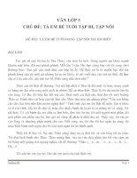 BÀI LÀM VĂN LỚP 5 CHỦ ĐỀ TẢ EM BÉ TUỔI TẬP ĐI, TẬP NÓI ĐỀ SỐ 3