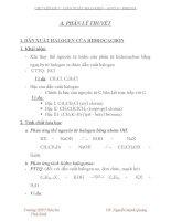 ÔN TẬP CHUYÊN ĐỀ 7  DẪN XUẤT HALOGEN - ANCOl - PHENOl