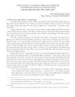 Báo cáo văn học Tiếng vang và cái bóng Khảo luận nhan đề Vang bóng một thời của Nguyễn Tuân (qua ngữ liệu chữ Hán, Nôm, Quốc ngữ)