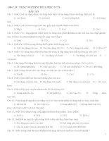 140 CÂU TRẮC NGHIỆM HÓA HỌC 9 CÓ ĐÁP ÁN