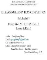 Slide tiếng anh 8 UNIT 13 FESTIVALS _Quang Thống