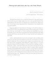 Báo cáo Phong cách phê bình văn học của Hoài Thanh