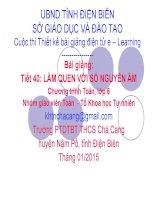 Slide tóan 6 bài làm quen với số nguyên âm _THCS Chà Cang