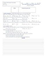 BÀI KIỂM TRA 45 PHÚT MÔN TOÁN (HÌNH HỌC) LỚP 10 ĐỀ 1