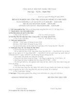 BIÊN BẢN NGHIỆM THU CÔNG VIỆC XÂY DỰNG NỘI BỘ CỦA NHÀ THẦU-Xếp rọ đá đường tránh cống Km180+165.13 ( Số lượng 6 rọ)