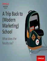 A trip back to modern marketing school