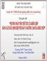 Slide tóan 12 PHƯƠNG PHÁP TÍNH THỂ TÍCH CỦA KHỐI CHÓP BẰNG CÁCH XÁC ĐỊNH DIỆN TÍCH ĐÁY VÀ ĐƯỜNG CAO CỦA KHỐI CHÓP _Thành Trung