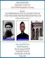 Slide sử 11 Bài 23 PHONG TRÀO YÊU NƯỚC VÀ CÁCH MẠNG Ở VIỆT NAM TỪ ĐẦU THẾ KỈ XX ĐẾN CHIẾN TRANH THẾ GIỚI THỨ NHẤT (1914) _Tố Loan