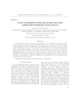 REVIEW - STUDY ON BENZOPYRANS AND OTHER ISOLATED COMPOUNDS FROM MALLOTUS APELTA