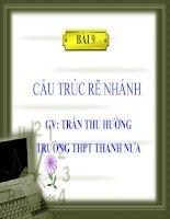 Slide tin học 11 bài 9 cấu trúc rẽ nhánh _T.T Hường