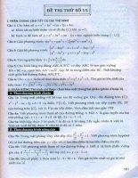 Thử sức trước kỳ thi đại học môn toán part 2