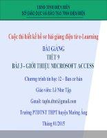 Slide tin học 12 bài 3 giới thiệu microsoft access _L.N Tập