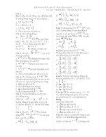 Đề thi học kì 1 toán 12 trắc nghiệm