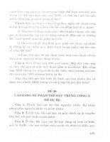 Hướng dẫn ôn tập và trả lời câu hỏi môn sinh học theo chủ đề (p6)