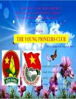 Slide tiếng anh 8 THE YOUNG PIONEERS CLUB _Thị Nhung