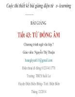 Slide văn 7 TỪ ĐỒNG ÂM _Thị Thuận