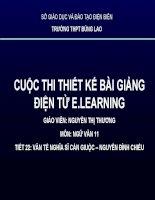 Slide văn 11 VĂN TẾ NGHĨA SĨ CẦN GIUỘC – NGUYỄN ĐÌNH CHIỂU _Thị Thương