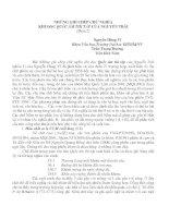 Báo cáo Những ghi chép chữ nghĩa khi đọc Quốc âm thi tập của Nguyễn Trãi