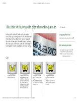 Hiểu biết về hướng dẫn giặt trên nhãn quần áo