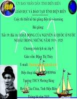 Slide sử 9 Bài 16 HOẠT ĐỘNG CỦA NGUYỄN ÁI QUỐC Ở NƯỚC NGOÀI TRONG NHỮNG NĂM 1919 - 1925 _Thị Thùy