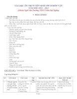 Tài liệu ôn thi tuyển sinh lớp 10 môn văn