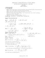HƯỚNG dẫn ôn tập học kì i  toán 9