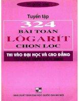 Tuyển tập 324 bài toán logarit chọn lọc