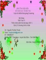 Slide Địa lí 12 bài 11 Thiên nhiên phân hóa đa dạng ( tiết 1 ) _Bích Thuận