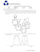 đề thi cuối kỳ - cơ sở thiết kế trang phục abc